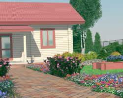 Ландшафтный дизайн деревенского дома и участка