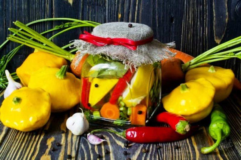 Маринованные патиссоны – вкусные рецепты на зиму