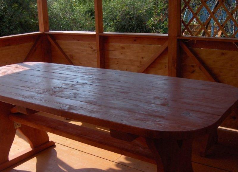 Деревянный стол своими руками для беседки – как изготовить?