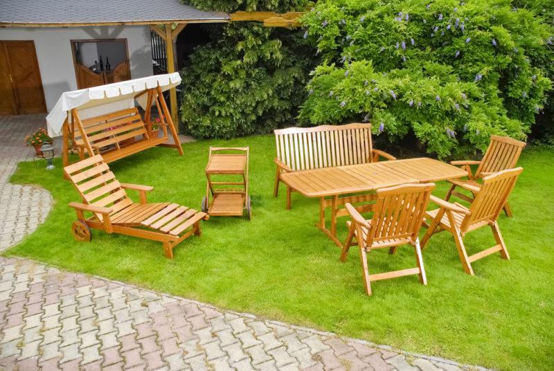 Садовая мебель своими руками: столы, скамейки, стулья
