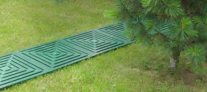 Садовые дорожки из пластика - комфорт обеспечен
