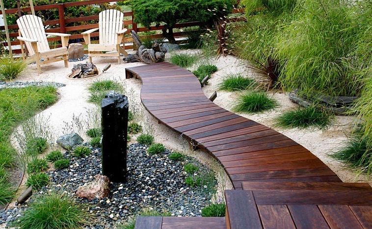 Садовые дорожки из дерева: долговечные и стильные