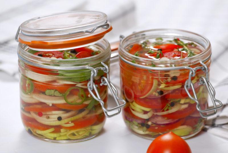Консервация помидоров без уксуса